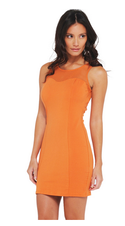 AX Paris Women's Mesh Front Fitted Dress from Sears