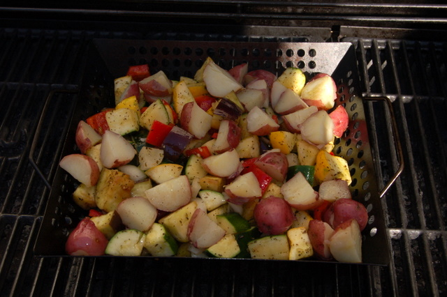easy grilled veggies grilling basket