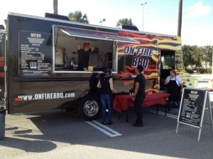 On Fire BBQ is just one of the many food trucks that can be found at the ZORA! Food Trucks Stop at ZORA! Festival's Outdoor Festival of the Arts, Feb. 1-3, in Eatonville, Fla. Photo courtesy of Food Truck Crazy, Inc.