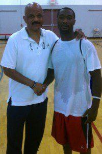 John Lucas (l), professional NBA player/coach and Iren Rainey (r) - summer 2012