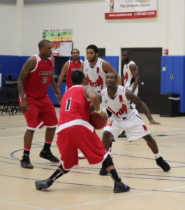 Iren Rainey tackles an opponent during an IBL game. May 2012