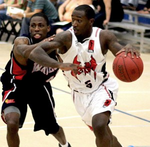 Iren Rainey takes control of the ball during an IBL game - May 2012.