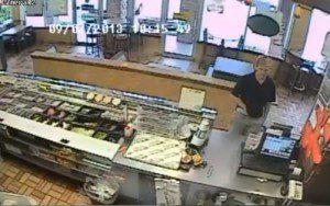 Video still - suspected Subway robber