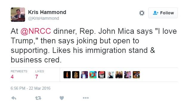 Mica NRCC dinner Trump