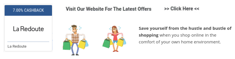 get la redoute cashback and sales promotions when you shop online