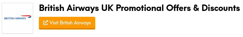 british airways promotional offers and discount codes