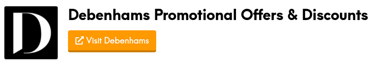 debenhams promotional offers and discount codes