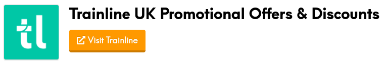 trainline promotional offers and discount codes