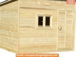 caseta prefabricada de madera para guardar herramientas
