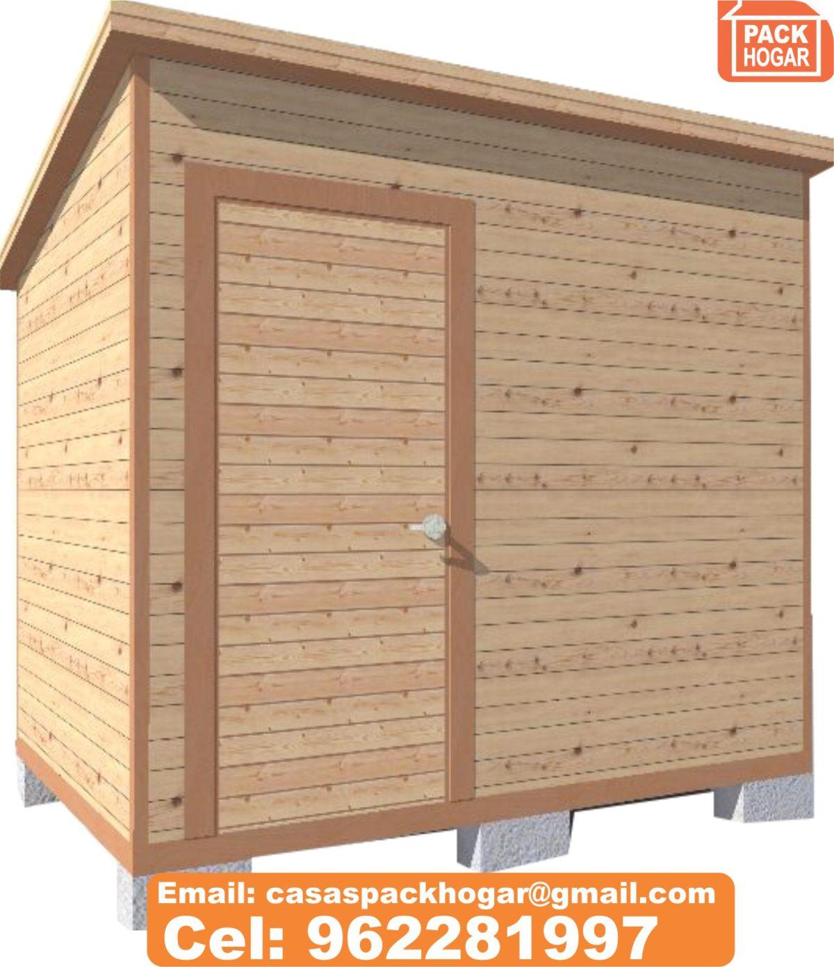 6 tipos de Casetas y módulos prefabricadas de madera para almacén