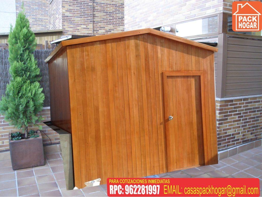 Caseta de madera prefabricada funcional