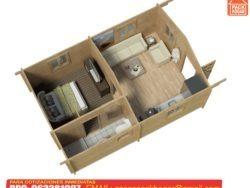 casas prefabricadas de madera de un dormitorio