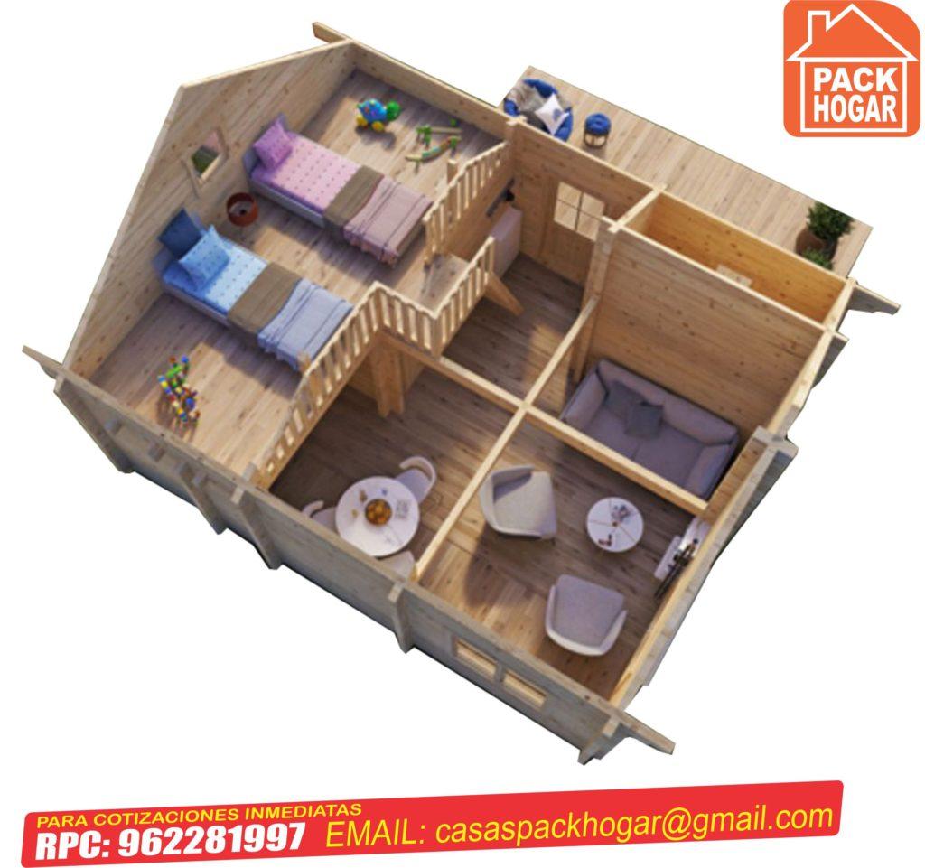 casa prefabricada de dos pisos 3 habitaciones