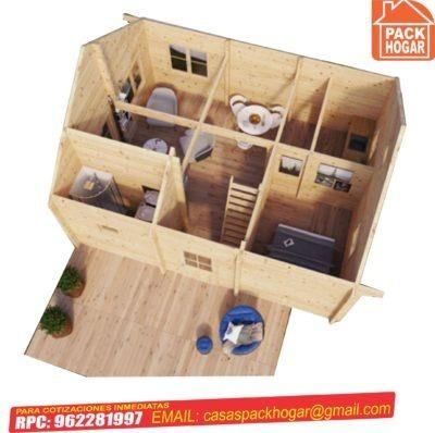 casa prefabricada dos pisos 3 habitaciones