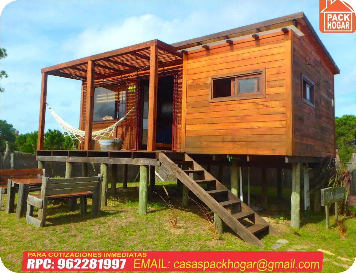 Pequeñas casas románticas prefabricadas  con madera en – Peru