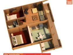 casas prefabricadas de madera 2 habitaciones