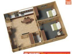 casa prefabricada dos habitaciones