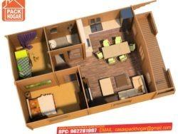 casas prefabricadas de madera 2 dormitorios
