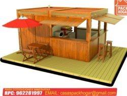 kiosco de madera cuadrado