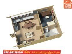 casas prefabricadas de un dormitorio