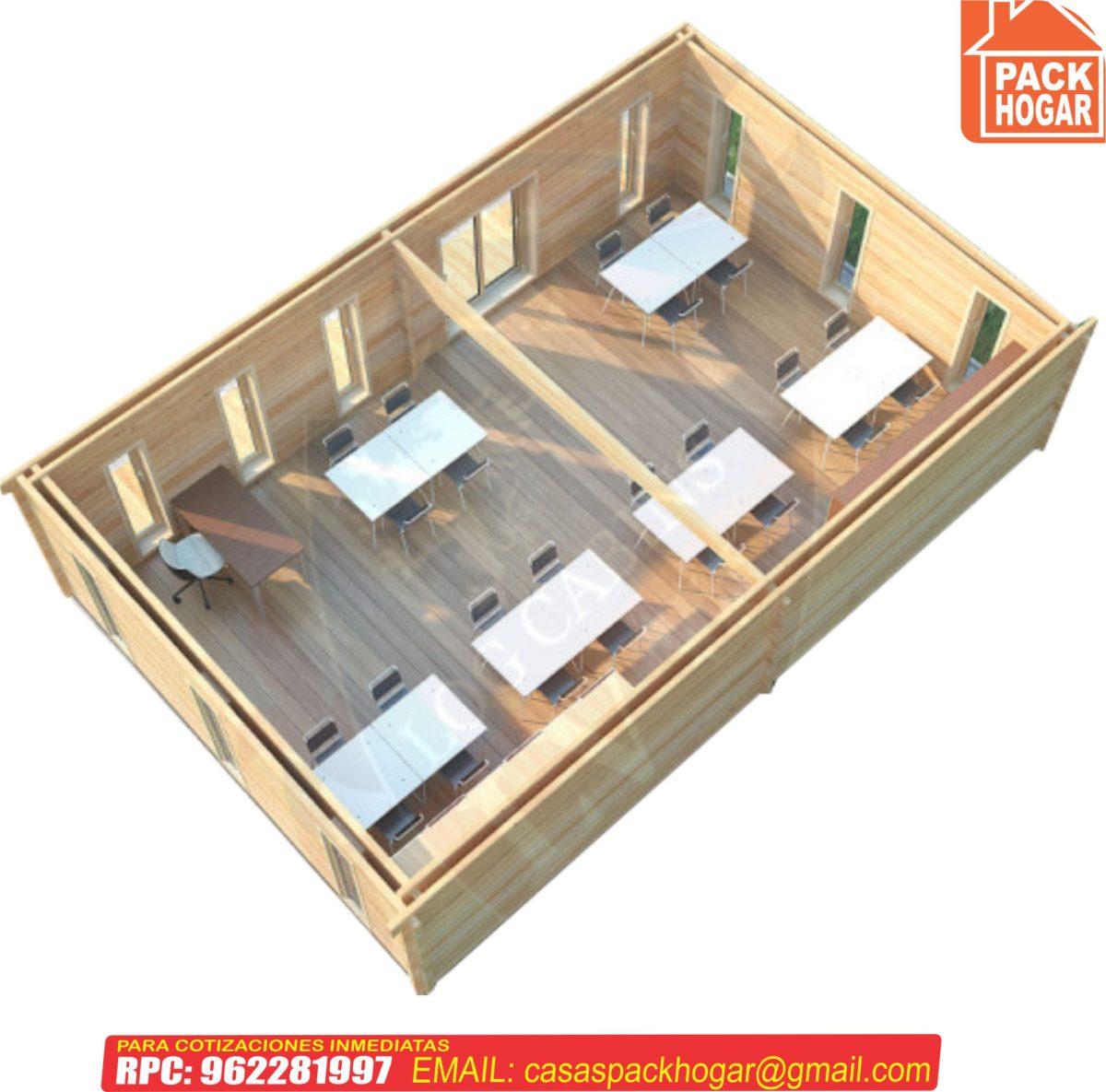Aulas escolares prefabricadas de madera