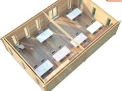 Aula escolar prefabricada de madera