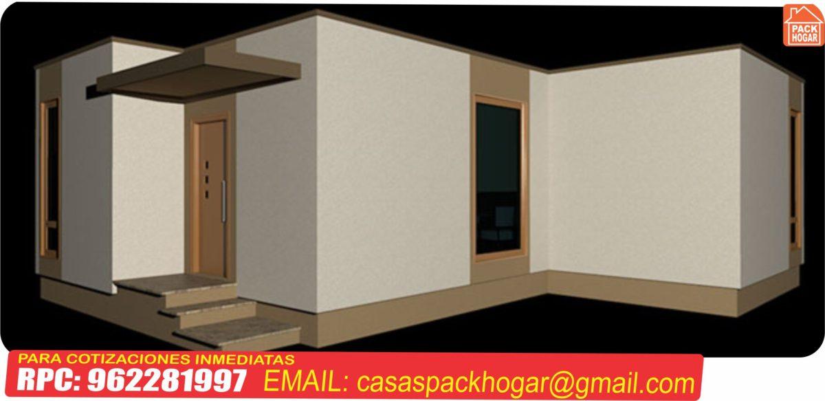 Precios de casas prefabricadas. 2 dormitorios, baño, cocina-comedor