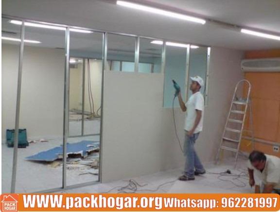 instalacion de paredes en drywall