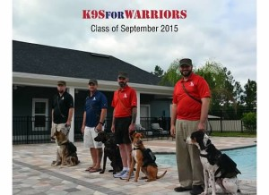 K9s for Warriors Class of Sept 2015