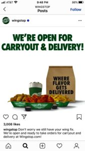 wingstop carryout