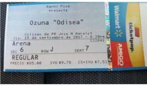 Taquilla concierto Ozuna