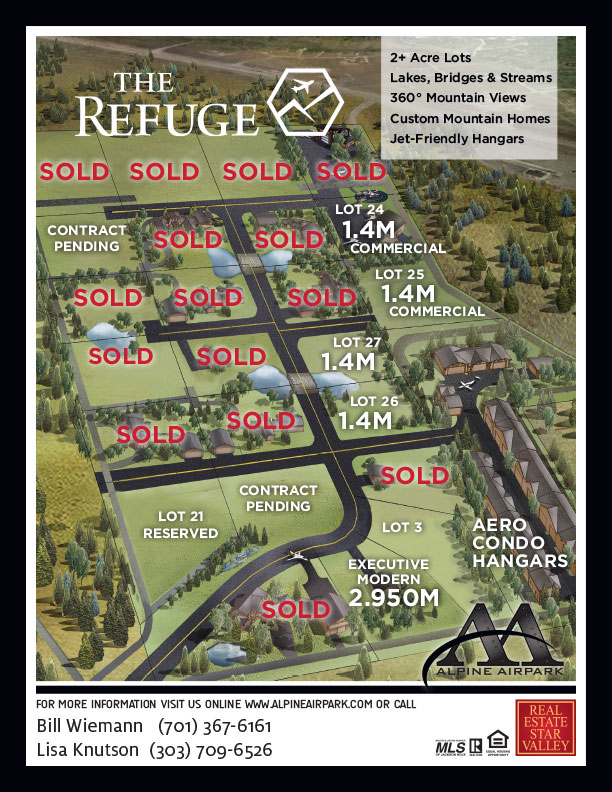 The Refuge at Alpine Airpark Site Map