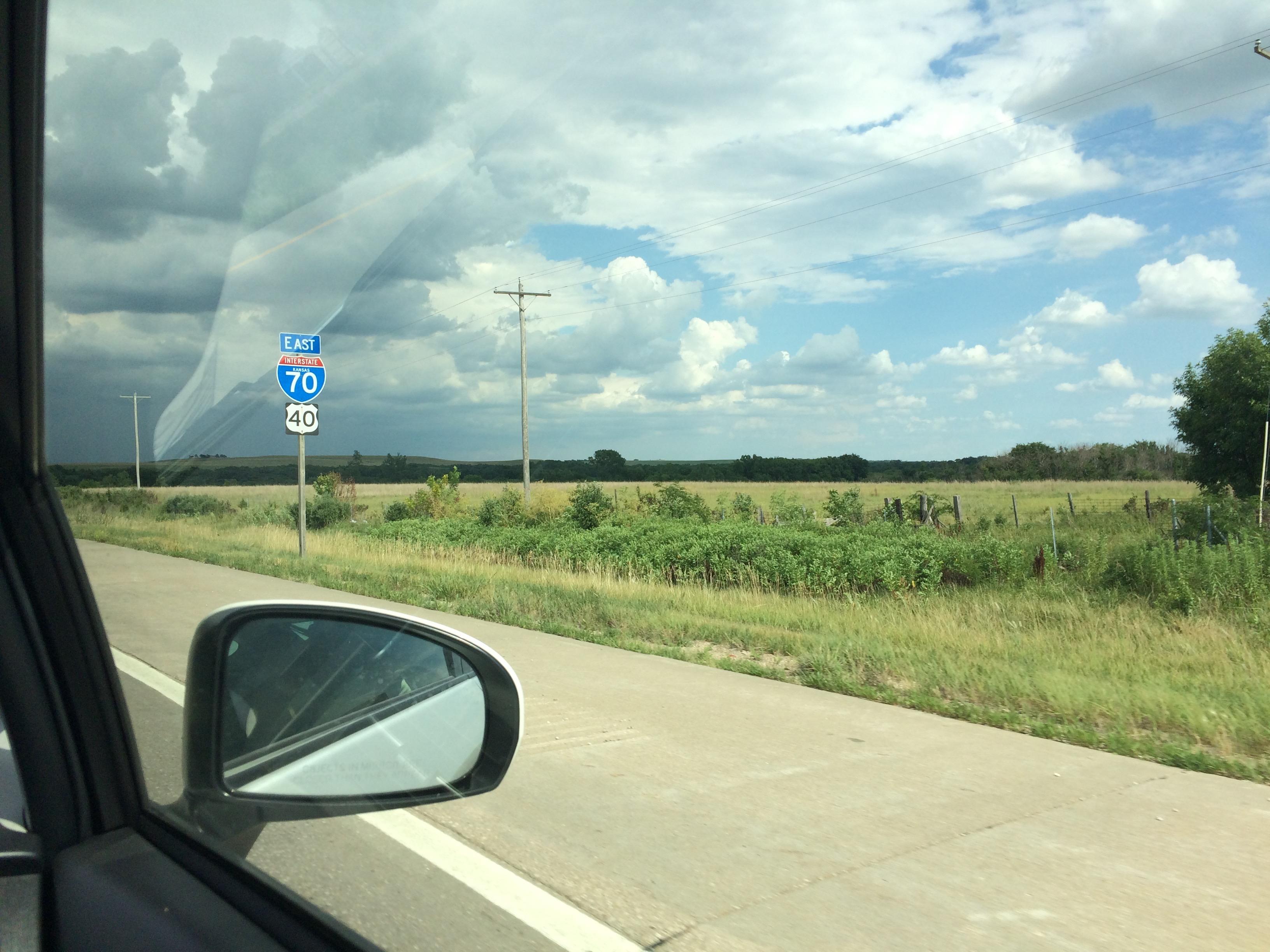Long freeway in Kansas