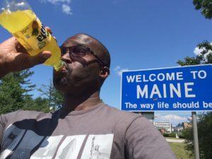 Fanta selfie in Maine