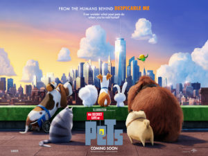 Secret Life of Pets movie poster - Kevin Hart from Philadelphia stars in it.