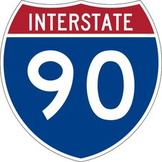 90 Freeway sign in South Dakota