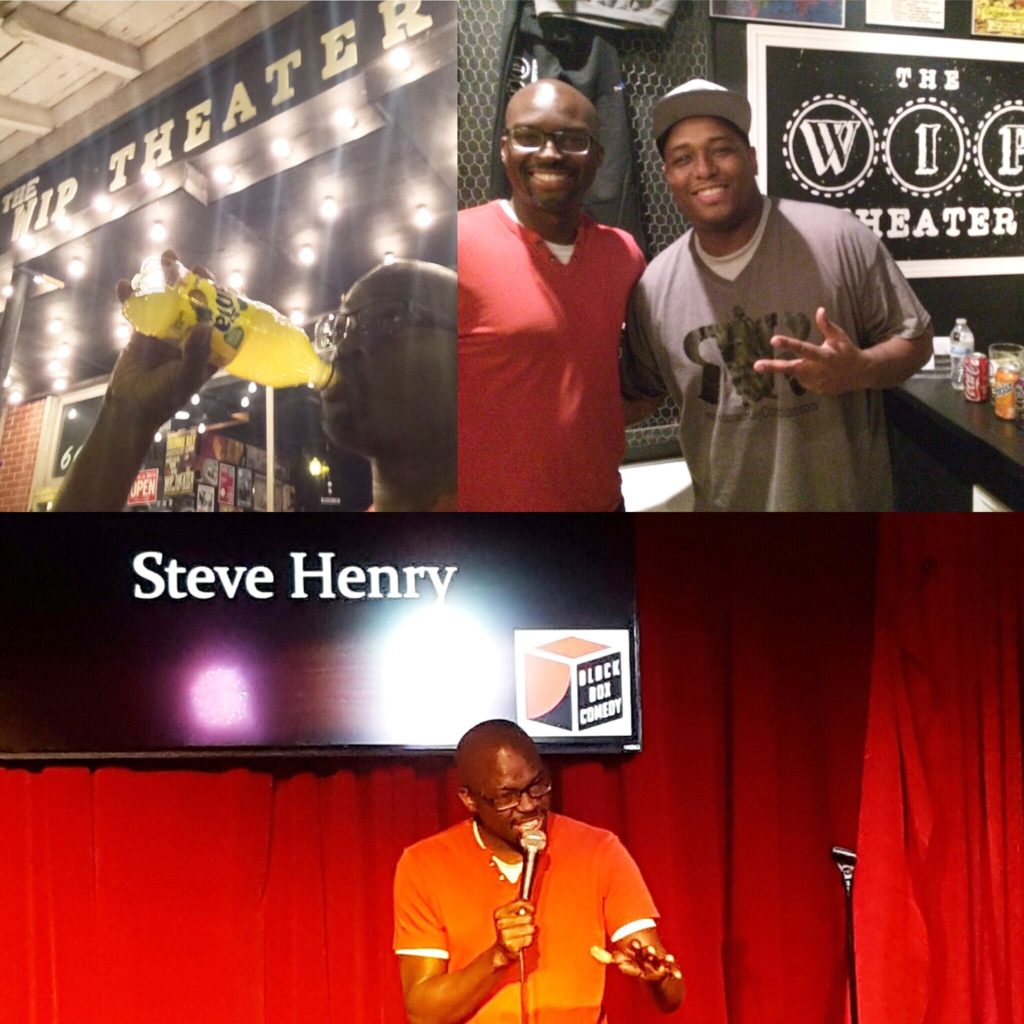 Montage of comedy in Chicago.