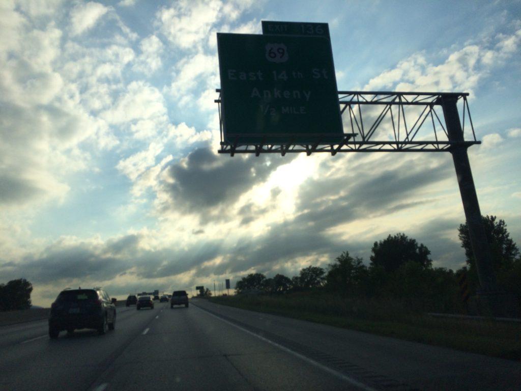 Iowa sky with many clouds