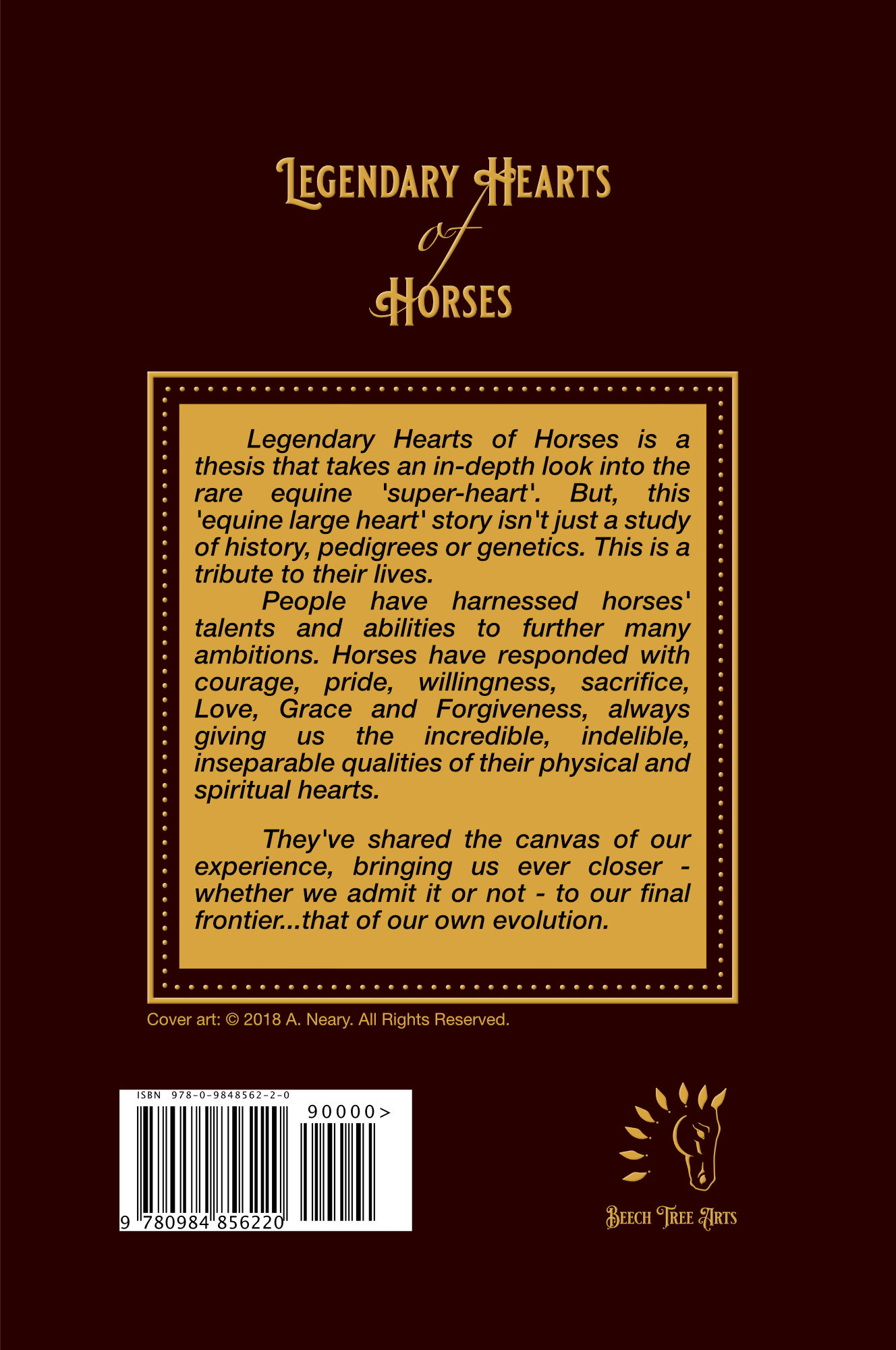 Legendary Hearts of Horses back cover