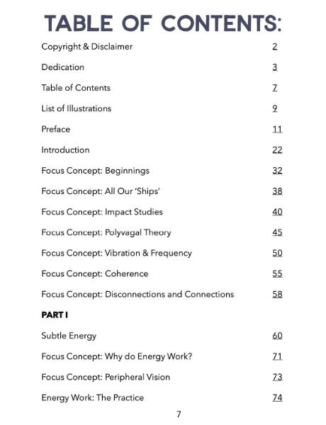 Coherent Horsemanship table of contents 1 of 2