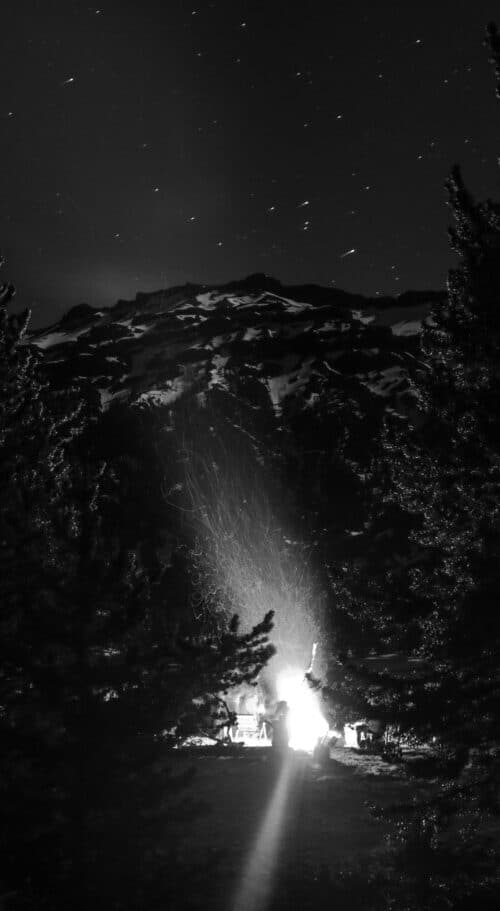 Mountain Campfire by Landon Blanchard