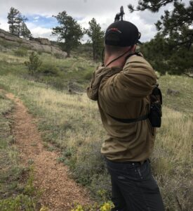 Shooting at Curt Gowdy Archery Range