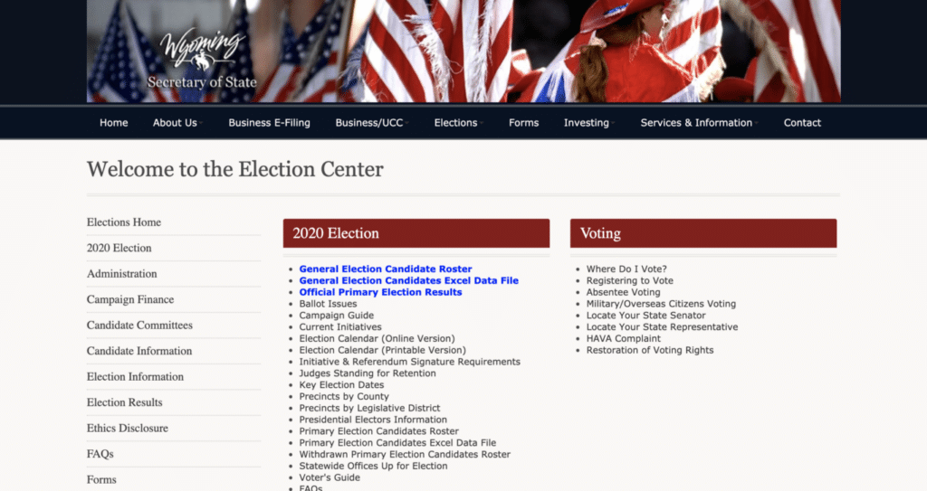 101920_Wyoming Secretary of State Election Center.