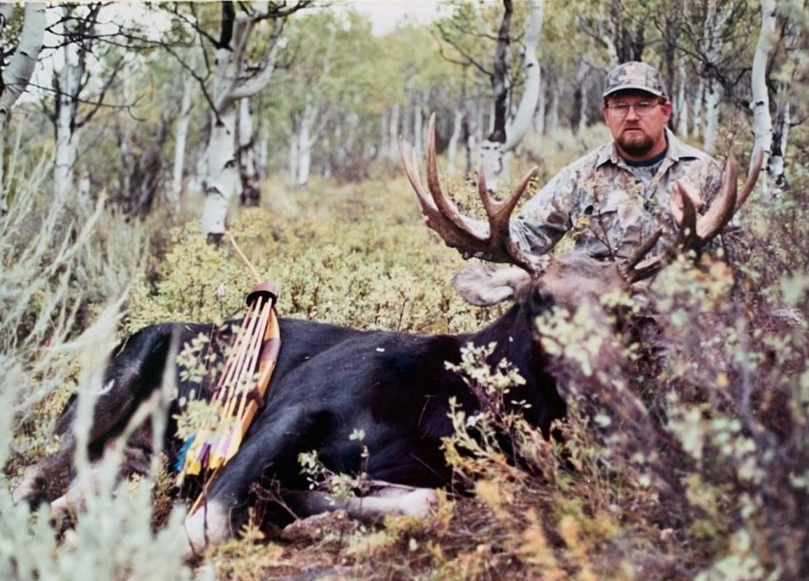 Pep Brinkerhoff with Moose