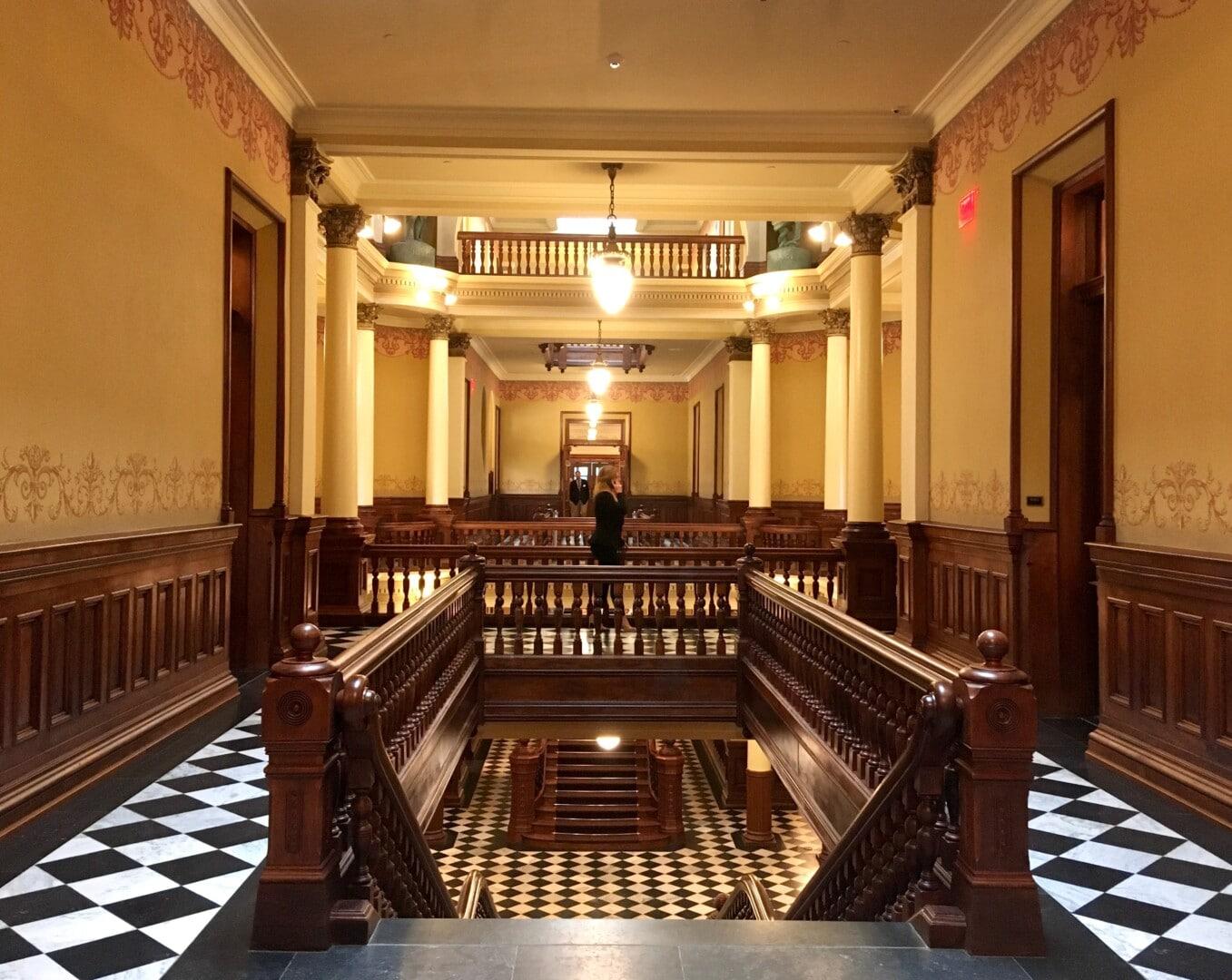 Capitol Hallway_on_Phone