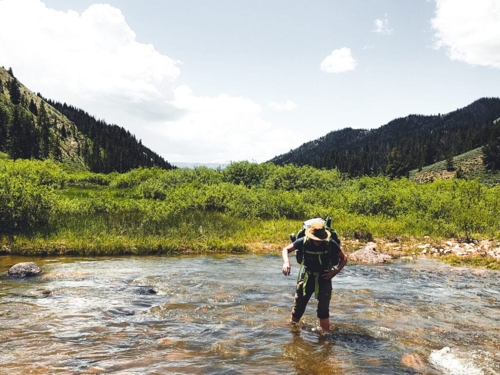 Auna Kaufmann Crossing River in the Gros Ventre