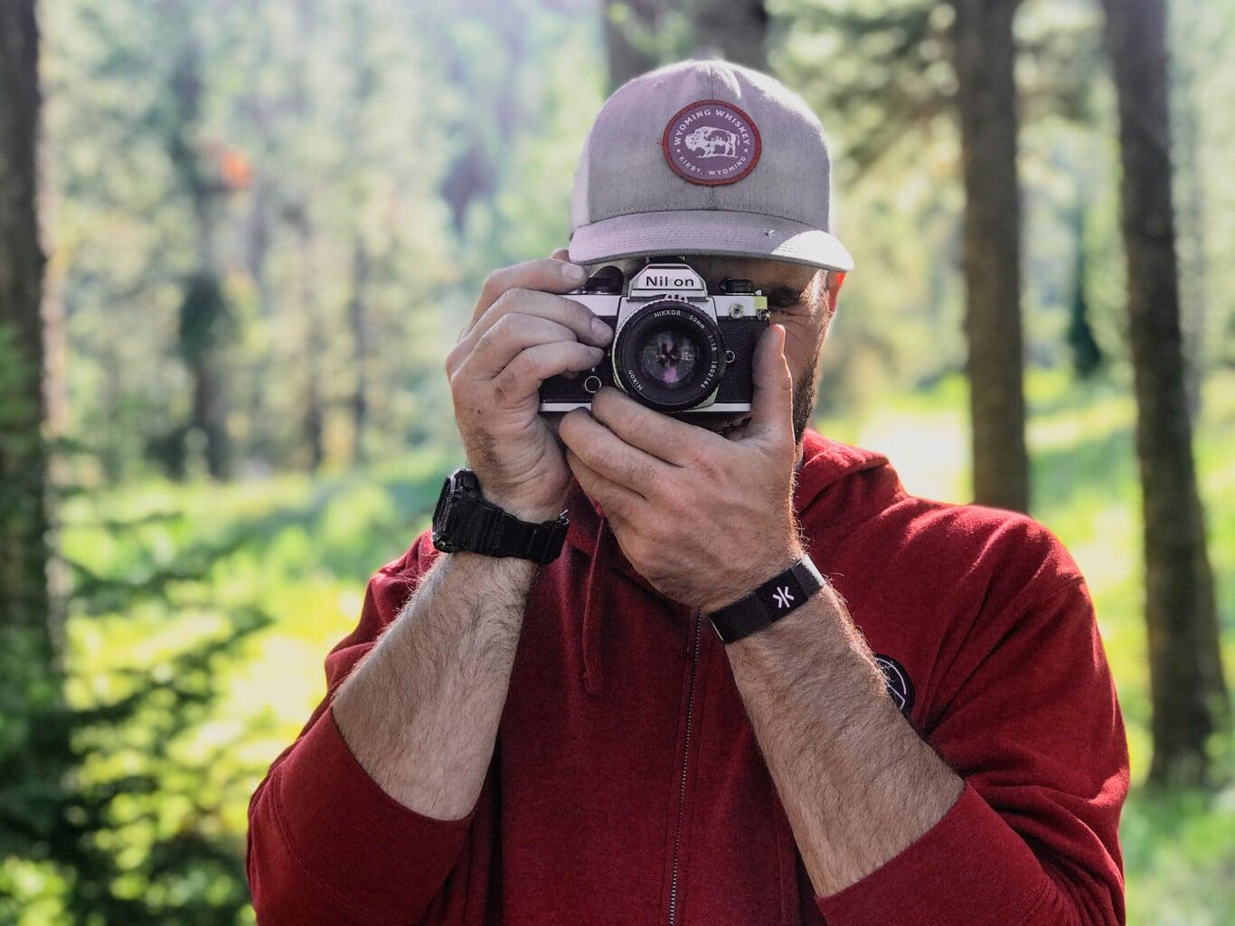 Sam Cook Looking Through Camera