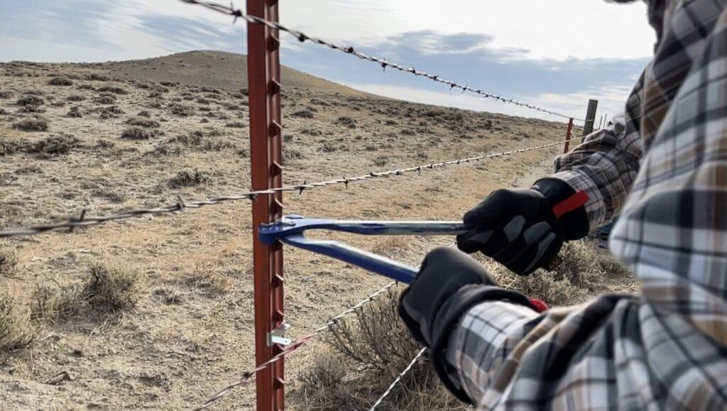 Installing Let Down Fencing