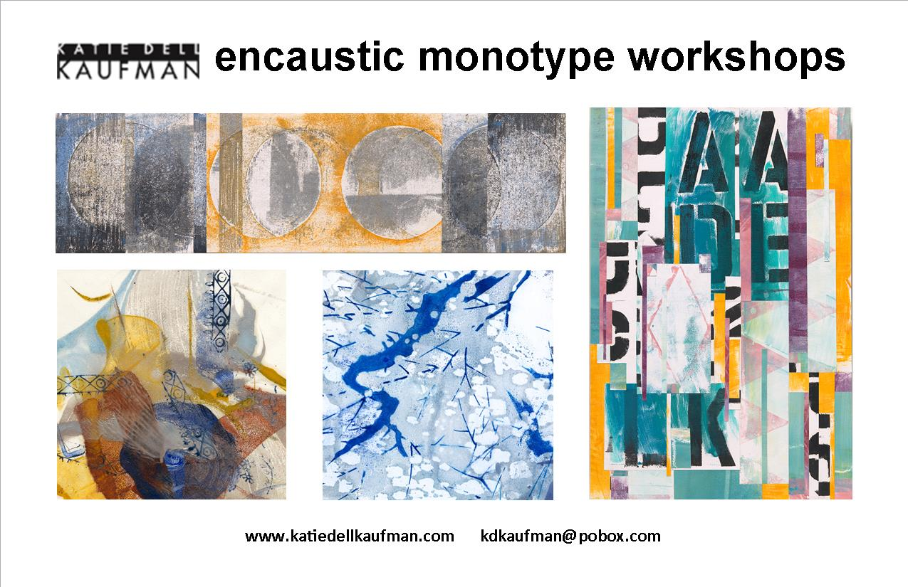 Encaustic monotype