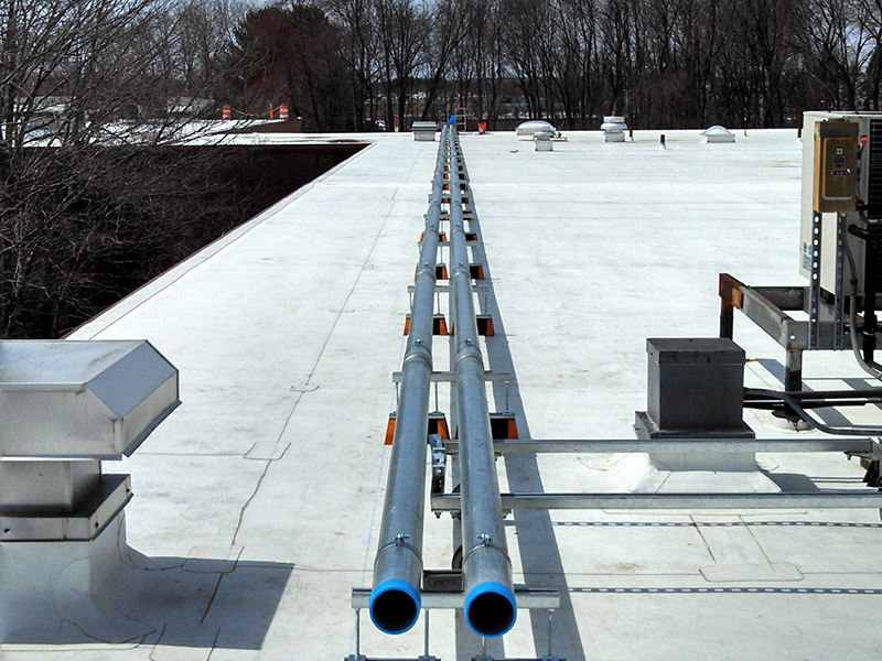 Electrical Conduit on Commercial Roof